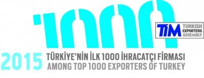 TİM 2015 İhracat ilk 1000 Logosu EN